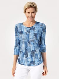 Top in a paisley print