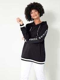 Sweatshirt met opschrift op de mouwen