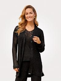 Cardigan in a fine knit