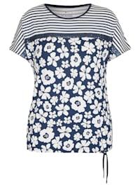 Shirt mit Pailletten und Blumenmuster