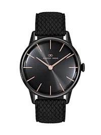 Uhr Serenity Noir Black Black Perlon 32mm