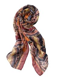 Sjaal met oriëntaalse print