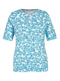 Shirt mit abstrakten Elementen und Rundhals