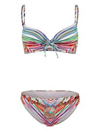 Bikini à motif rayé