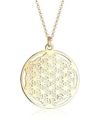 Halskette Ornament Lebensblume Symbol 925 Sterling Silber