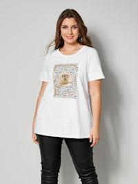 T-shirt à effet brillant