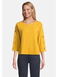 Casual-Sweatshirt mit Knöpfen