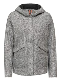 Outdoor Jacke in Fake Wolle