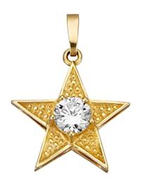 Pendentif Étoile avec zirconia