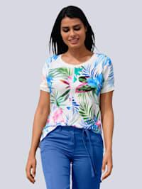 Blouse in shirtmodel