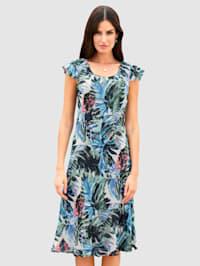 Keerbare jurk van zomers materiaal