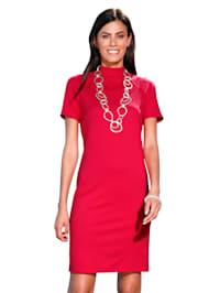 Jersey jurk met opstaande kraag
