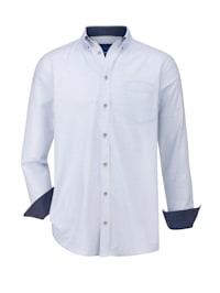 Overhemd met fijne kleuraccenten door het effectgaren
