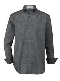 Skjorta med rutiga mönster