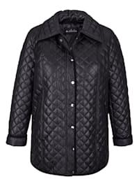 Gewatteerde jas met ruitenstiksels