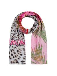 Exotik-Schal mit Glamour Appeal aus Baumwolle und Modal