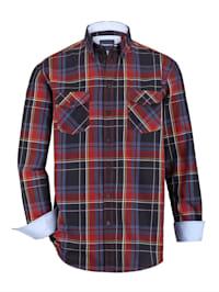 Košile se 2 kapsami s klopou