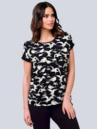 T-shirt à motif exclusif Alba Moda