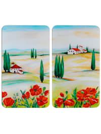 2 komfyrdekkplater -Toscana-