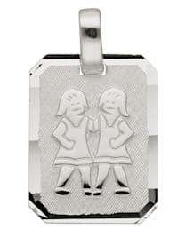 1001 Diamonds Damen & Herren Silberschmuck 925 Silber Sternzeichen Anhänger Zwilling
