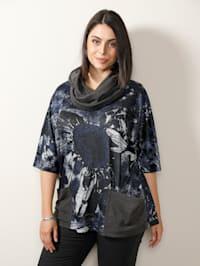 Set: shirt & sjaal met praktische zakken