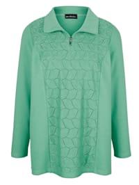 Sweatshirt met kanten inzet voor