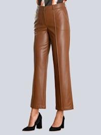 Hose aus Fake-Leder