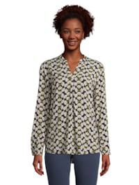 Casual-Bluse mit Muster Druck