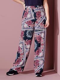 Pantalon à imprimé foulard tendance