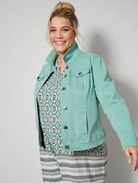 Džínová bunda s módním color denim