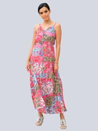 Robe de plage à imprimé patchwork