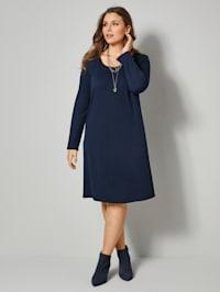Jersey jurk in flatterend A-model