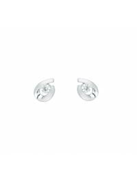 Damen Goldschmuck 585 Weißgold Ohrringe / Ohrstecker mit Zirkonia