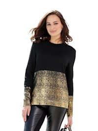 Pullover mit Gold Druck