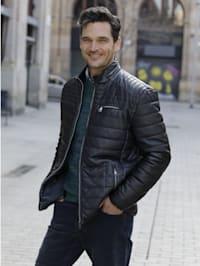 Gewatteerde jas in modieuze used look