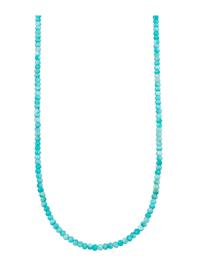 Halsband av amazonit med elegant karbinlås