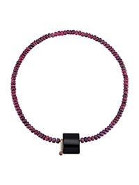 Rubinhalsband med utbytbart lås