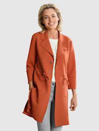 Kabát s fazónkovým golierom