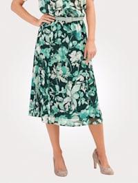 Kjol med blommönster