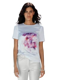 Shirt mit Vorderteil in Satin-Qualität