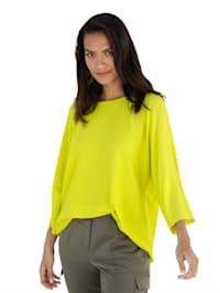 Pullover in trendiger Neonfarbe