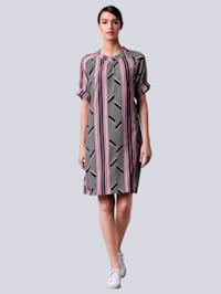 Kleid im farbenfrohen Dessin
