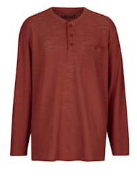 Henleyshirt aus reiner Baumwolle