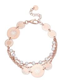 """Bracelet """"Attrape-rêves"""" avec perles de culture d'eau douce"""