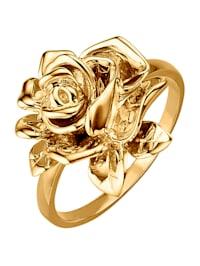 "Bague ""Rose"" en or jaune 750"