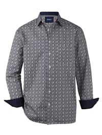 Chemise à motifs variés