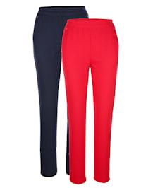 Športové nohavice, 2 kusy s módnymi nitmi