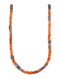 Halskette mit Karneol und Labradorit