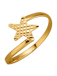 Stern-Ring in Gelbgold 375
