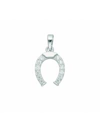 1001 Diamonds Damen Silberschmuck 925 Silber Anhänger Hufeisen mit Zirkonia